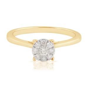 0.23 Ctw Classic Round Brilliant Cut Real Natural White Diamond Engagement Ring - Handcrafted By Name My Rings™