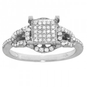 White Gold 3/8ct TDW White Diamond Ring - Handcrafted By Name My Rings™