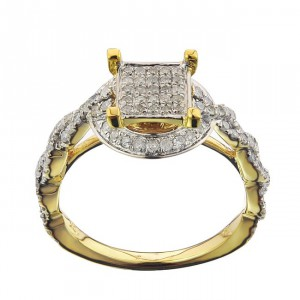 Gold 5/8ct TDW Diamond Ladies Ring - Handcrafted By Name My Rings™