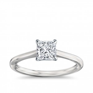 Gold 1 1/2ct TDW GIA Certified Diamond Princess Engagement Ring - Handcrafted By Name My Rings™