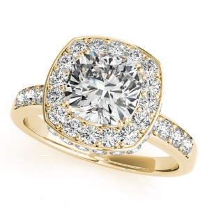 Gold 1.34ct TDW Vintage Round Solitaire Engagement Ring - Handcrafted By Name My Rings™