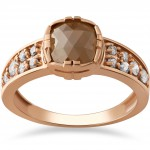 Rose Gold 1 1/4ct TDW Raw Rough Cut Diamond Slice Engagement Ring - Handcrafted By Name My Rings™