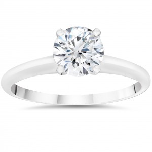 White Gold 1/4ct Solitaire Round Cut Lab Grown Eco Friendly Diamond Engagement Ring - Handcrafted By Name My Rings™