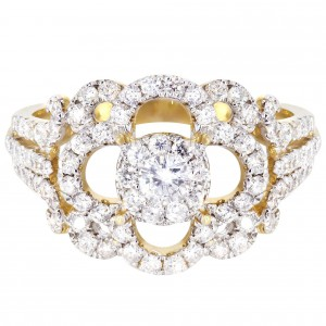 Gold 1/5ct TDW Fashion Diamond Ring - Handcrafted By Name My Rings™