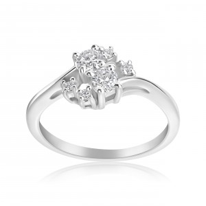 White Gold 1/3ct TDW 2-stone Forever Ring - Handcrafted By Name My Rings™