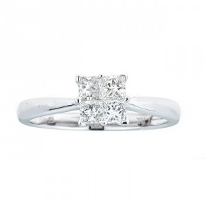 Anika and August White Gold 1/2ct TDW Diamond Ring - Handcrafted By Name My Rings™