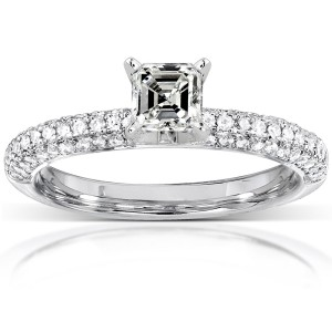 Gold 1/2ct TDW Asscher Diamond Ring - Handcrafted By Name My Rings™