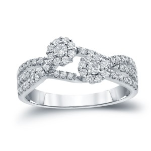 Gold 1/2ct TDW Round Diamond Engagement Ring - Handcrafted By Name My Rings™