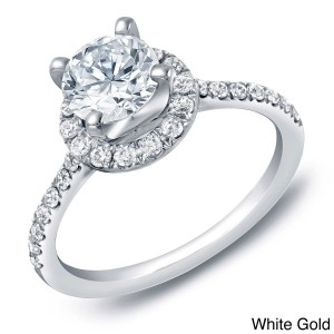 Gold 1 1/2ct TDW Certified Round Diamond Engagement Ring - Handcrafted By Name My Rings™