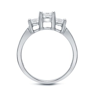 Gold 1.5ct TDW Diamond 3-stone Engagement Ring - Handcrafted By Name My Rings™