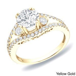 Gold Certified 1 1/4ct TDW Diamond Engagement Ring - Handcrafted By Name My Rings™