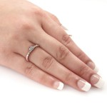 Rose Gold 1 1/2 ct TDW Round Diamond Solitiare Engagement Ring - Handcrafted By Name My Rings™
