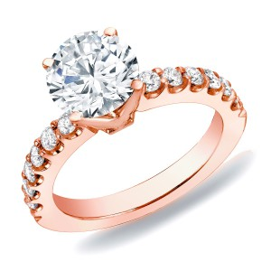 Rose Gold 1ct TDW Diamond Solitaire Engagement Ring - Handcrafted By Name My Rings™