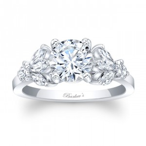 White Gold 1 1/4ct TDW Round-cut Engagement Ring - Handcrafted By Name My Rings™