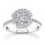 White Gold 1 5/8ct TDW White Diamond Flower Engagement Ring - Handcrafted By Name My Rings™