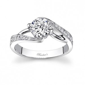 White Gold Round-cut Diamond Engagement Ring - Handcrafted By Name My Rings™