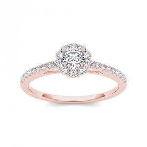 Rose Gold 1/2ct TDW Diamond Solitaire Engagement Ring - Handcrafted By Name My Rings™