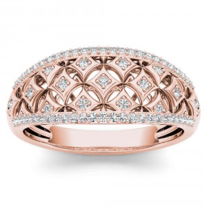 Rose Gold 1/5ct TDW Diamond Fashion Ring - Handcrafted By Name My Rings™