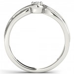 White Gold 1/10ct TDW Diamond Bypass Cluster Engagement Ring - Handcrafted By Name My Rings™