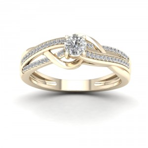 1/4ct TDW Diamond Split Shank Ring - Handcrafted By Name My Rings™