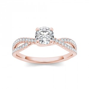 Rose Gold 1ct TDW Diamond Engagement Ring - Handcrafted By Name My Rings™