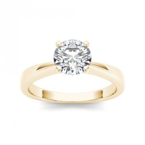Gold 1ct TDW Diamond Classic Engagement Ring - Handcrafted By Name My Rings™