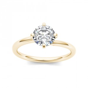 Gold 1ct TDW Diamond Solitaire Ring - Handcrafted By Name My Rings™