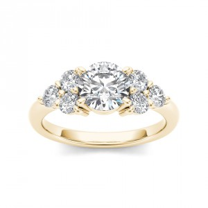 Gold 2ct TDW Diamond Engagement Ring - Handcrafted By Name My Rings™