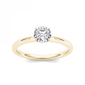 Gold 3/4ct TDW Diamond Classic Engagement Ring - Handcrafted By Name My Rings™