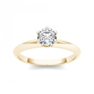 Gold 7/8ct TDW Diamond Classic Engagement Ring - Handcrafted By Name My Rings™