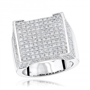 Gold Men's Real Hip Hop Diamond Ring 4.35ct - Handcrafted By Name My Rings™