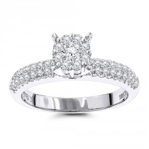 Gold 3/4ct TDW Diamond Cluster Ring - Handcrafted By Name My Rings™