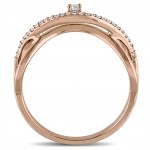 Rose Gold 1/6ct TDW Diamond Twist Promise Ring - Handcrafted By Name My Rings™