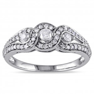 White Gold 1/2ct TDW Diamond Ring - Handcrafted By Name My Rings™