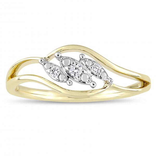 2-Tone White and Gold Diamond Triple Marquise-Cut Floating Center Engagement Ring - Handcrafted By Name My Rings™