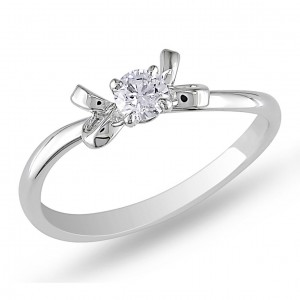 Signature Collection White Gold 1/5ct TDW Diamond Engagement Ring - Handcrafted By Name My Rings™