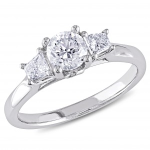 Signature Collection White Gold 1ct TDW Diamond Ring - Handcrafted By Name My Rings™