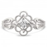 Jewelry White Gold 1/5ct TDW Princess-cut Antique-Style Engagement Ring - Handcrafted By Name My Rings™