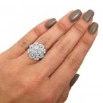 White Gold 1ct TDW Vintage Style Diamond Engagement Ring - Handcrafted By Name My Rings™
