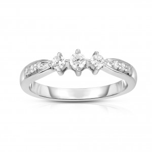 Noray Designs White Gold 3-Stone Diamond Engagement Ring - Handcrafted By Name My Rings™
