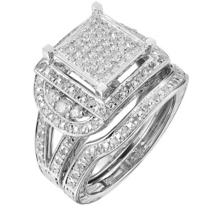 Sterling Silver 1/2ct TDW Diamond Anniversary Ring Set - Handcrafted By Name My Rings™