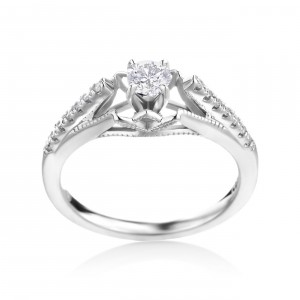 white gold 3/8ct TDW Diamond Enagagment Ring - Handcrafted By Name My Rings™