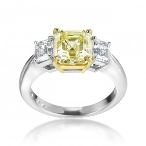 White Gold and Platinum Yellow and White Diamond 3.55ct TDW Ring - Handcrafted By Name My Rings™