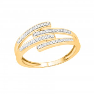 Gold over Silver 1/10ct TDW Diamond Cluster Engagement Ring - Handcrafted By Name My Rings™
