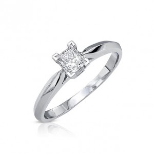 Gold 3/8ct TDW Certified Diamond Engagement Ring - Handcrafted By Name My Rings™