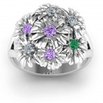 Personalised Ring In Full Bloom - Handcrafted By Name My Rings™