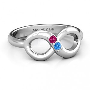 Personalised Twosome Infinity Ring - Handcrafted By Name My Rings™