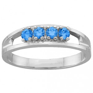 Personalised 16 Gemstone Ring - Handcrafted By Name My Rings™