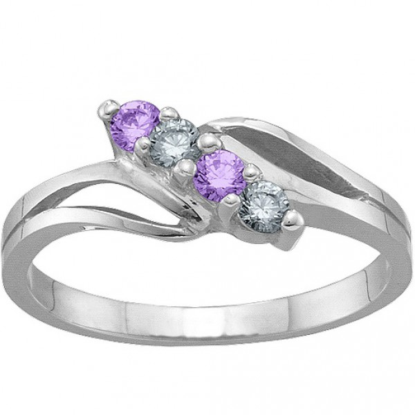 Personalised 27 Stones Branch Ring - Handcrafted By Name My Rings™