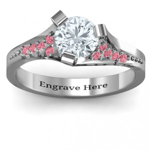 Personalised Beloved TriSet Ring with Accents - Handcrafted By Name My Rings™